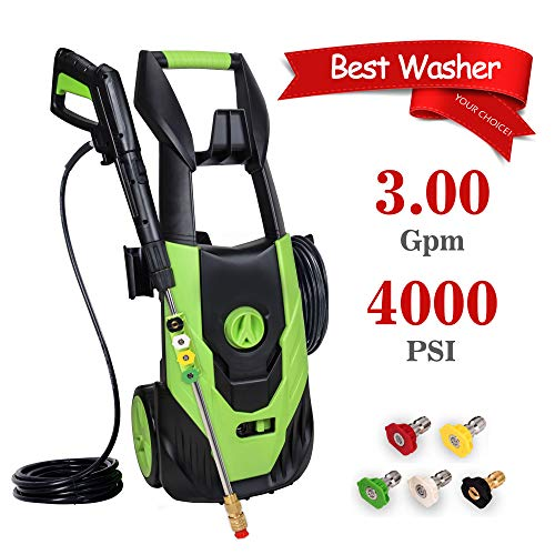 PowRyte Elite Electric Power Washer, Electric Pressure Washer with 5 Interchangeable Spray Tips,High Pressure...