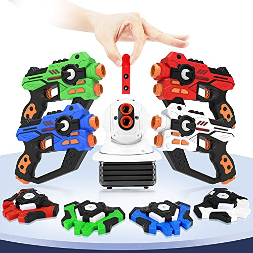 5hgxOE Laser Tag, Toys for 8-12 Year Old Boys Girls Laser Tag Guns, 4 Infrared Guns Vests & 1 Projector Multi...