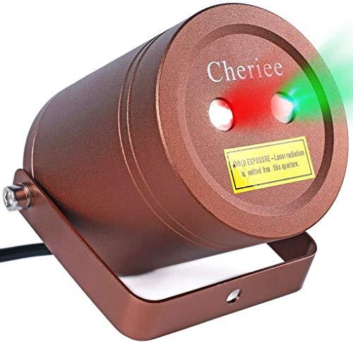 Laser Christmas Lights Outdoor Landscape Star String Projector IP65 Plastic Decoration Red & Green Laser Light...