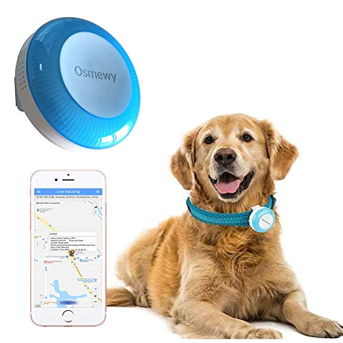 Osmewy Dog GPS Tracker Dogs Tracking Device Pet Tracker Pets GPS Locator Light Search Anti-Lost Geo Fence...