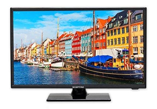 Sceptre E195BV-SR 19' Slim LED HDTV 720p with HDMI USB VGA Inputs, Fine Black (2017)