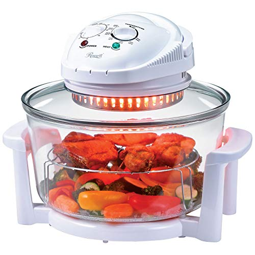 Rosewill Infrared Halogen Stainless Steel Extender Ring Convection Oven, 12-18L Dial
