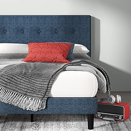 ZINUS Omkaram Upholstered Platform Bed Frame / Mattress Foundation / Wood Slat Support / No Box Spring Needed...
