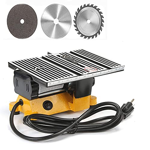 4' Mini Portable Table Saw, Mini Hobby Table Saw, Small Cutting Machine, Portable Worksite Table Saw for DIY...