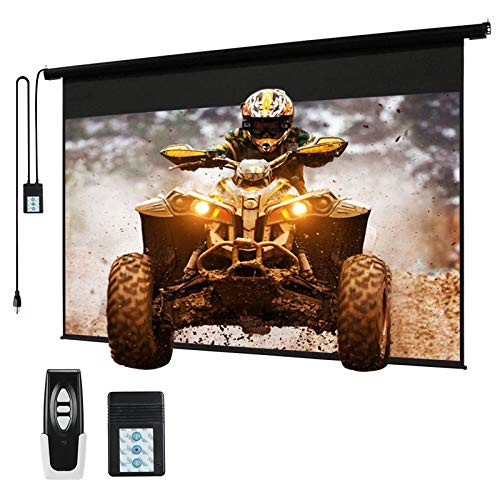120' Motorized Projector Screen Electric Diagonal Automatic Projection 4:3 HD Movies Screen for Home Theater...