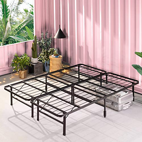ZINUS SmartBase Zero Assembly Mattress Foundation / 14 Inch Metal Platform Bed Frame / No Box Spring Needed /...
