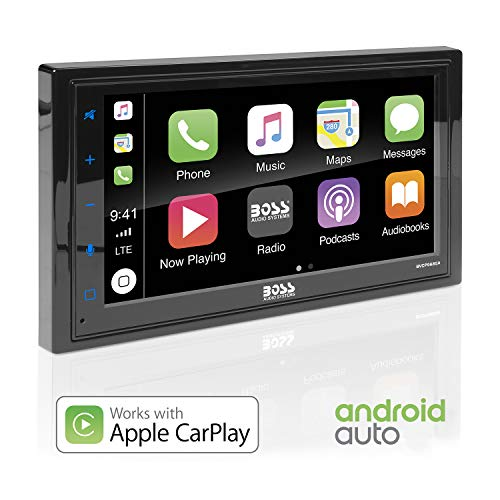 BOSS Audio BVCP9685A Apple Carplay Android Auto Car Multimedia Player - Double Din Car Stereo, 6.75 Inch LCD...