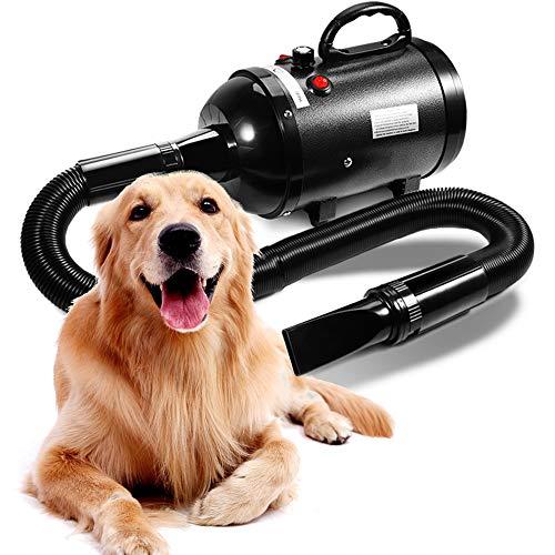 AIIYME Dog Dryer, 3200W/4.3HP Motor Stepless Adjustable Speed Dog Hair Dryer Pet Dog Grooming Dryer Blower...