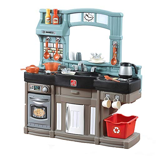Step2 Best Chefs Kitchen Playset   Kids Play Kitchen with 25-Pc Toy Accessories Set, Real Lights & Sounds,...