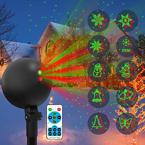 Christmas Lights Projector Laser Light Xmas Spotlight Projectors Waterproof Outdoor Landscape Spotlights for...