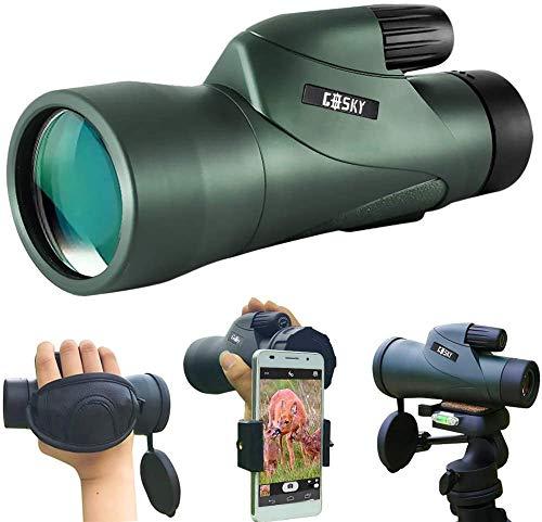 Gosky 12x55 High Definition Monocular Telescope and Quick Phone Holder-2020 Waterproof Monocular -BAK4 Prism...