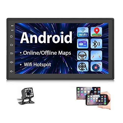 Double Din Android Car Stereo Radio with Bluetooth GPS 7 Inch HD Touchscreen in-Dash Headunit FM Radio...