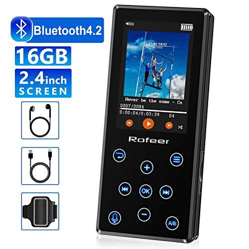 MP3 Player, 16GB MP3 Player with Bluetooth 4.2 HiFi Lossless Sound Portable Digital Music Player FM Radio...