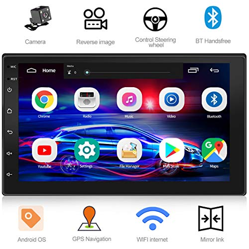 WZTO Double Din Car Stereo with GPS Navigation,7 inch Quad-Core Android 9.1 Touch Screen in Dash Navigation...