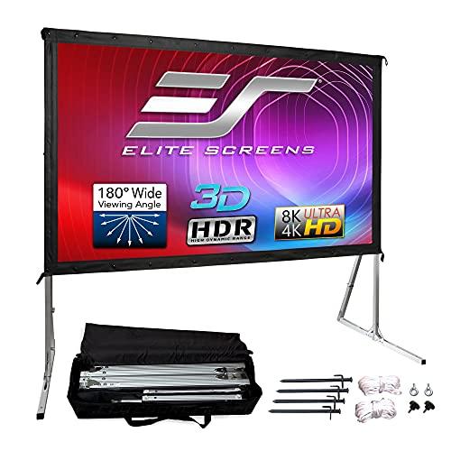 Elite Screens Yard Master 2, 120-inch Outdoor Indoor Projector Screen 16:9, Fast Easy Snap On Set-up...