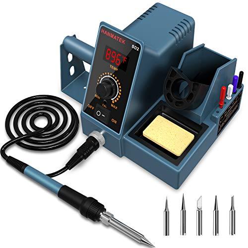 Soldering Station, HANMATEK Digital Display Soldering Iron Station, 392℉-896℉ Temperature Adjustable...