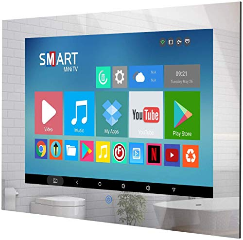 Haocrown Small 19 Inch Touchscreen Waterproof Mirror TV for Bathroom Built-in Smart Android Television...