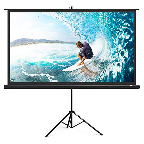 TaoTronics Projector Screen with Stand, TT-HP020 Indoor Outdoor Movie Projection Screen 4K HD with...