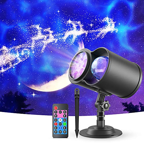 VANKYO Christmas Projector Lights Outdoor, 2-in-1 Ocean Wave LED Waterproof Projection Lights with Remote for...
