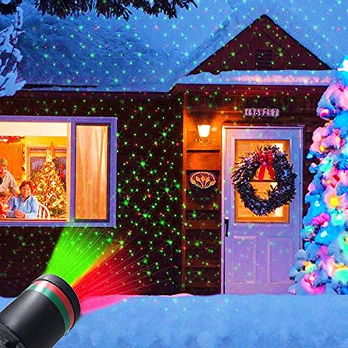 Laser Light Projector, Christmas Outdoor Laser Light Projector LED Landscape Spotlight Projectors Light...