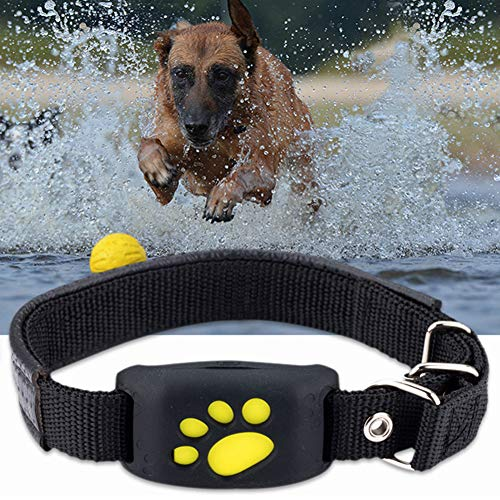 FHH GPS Dog Tracker Tracking Cat Collar Pet GPS Tracker Dog Cat Collar Water-Resistant GPS Callback Function...
