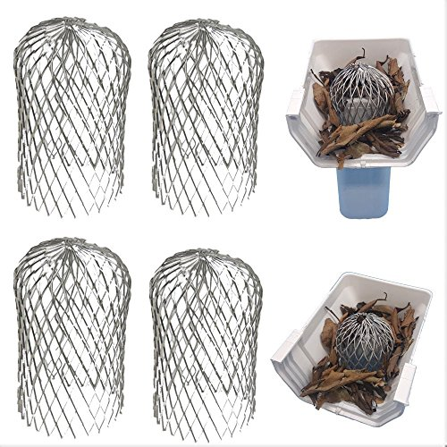 Gutter Guard 3 Inch Expand Aluminum Filter Strainer. Stops Blockage Leaves Debris. Pack of 4. by Massca...