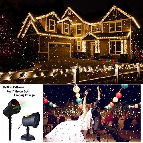 Christmas Motion Laser Lights Projector Pattern Outdoor, Holiday Decorations Lighting Landscape Waterproof for...