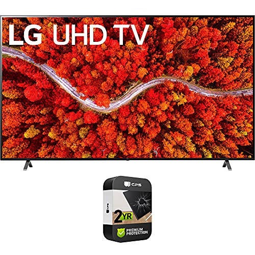 LG 86UP8770PUA 86 Inch AI ThinQ 4K UHD Smart TV (2021 Model) Bundle with Premium 2 Year Extended Protection...