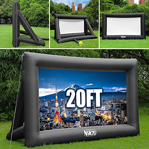 Naice Inflatable Movie Screen, 20-feet Indoor Outdoor Theater Projector Screen, Supports Front & Rear...