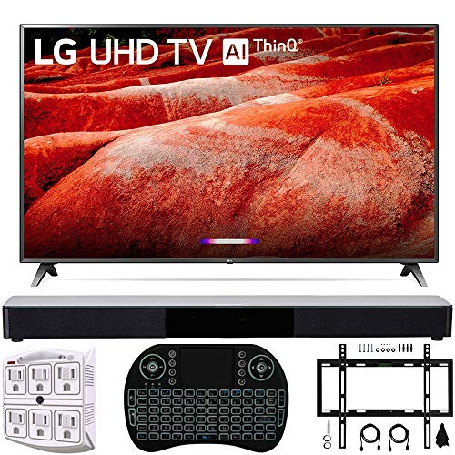 LG 86UM8070PUA 86' 4K HDR Smart LED IPS TV w/AI ThinQ 2019 Model with Home Theater 31' Soundbar, Wireless...