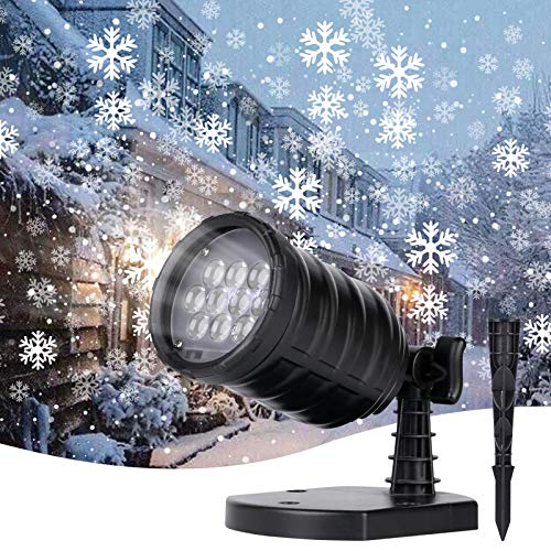 Brightown Christmas Snowflake Projector Lights - LED Snowfall Show Outdoor Waterproof Landscape Decorative...