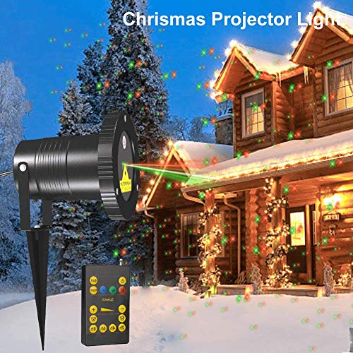 Zitrades Chrismas Projector Light Landscape Projector Lamp Patio Lights Outdoor Party Lights Star Red and...