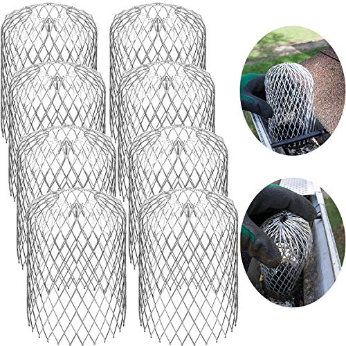 Gutter Guard Strainer 3 Inch Mesh Gutter Downspout Guard for Leaf and Rain Filter Gutter Screen Covers (8...