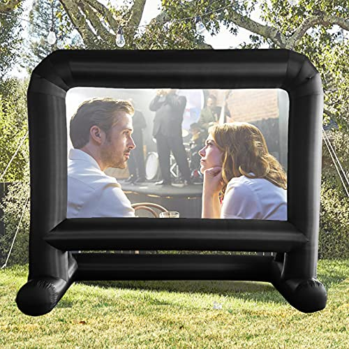 14 FT Inflatable Projector Movie Screen for Outside Indoor 104' Front/Rear Projection Mega Blow Up Screen for...