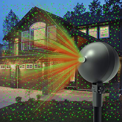 Auxiwa Christmas Laser Lights Projector Outdoor Lazer Projection Light Waterproof Projectors Led Landscape...